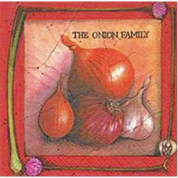 Motiv-Serviette Onion Family
