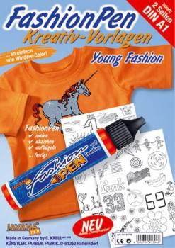 "Fashion Pen Kreativ-Malvorlagen ""Young Fashion"""