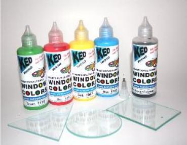 Window Color Set mit 5 Farben und 3 Glasplatten