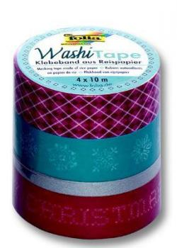 Folia Washi Tape, Weihnachten Retro