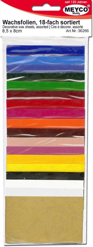 window color bastelbedarf g nstig kaufen verzierwachs wachsfolien set 18 farben sortiert. Black Bedroom Furniture Sets. Home Design Ideas