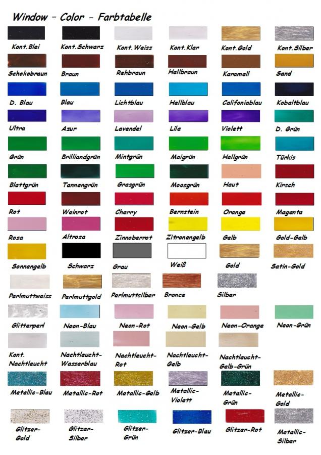 100 Pics Farben.Riesen Window Color Set 100 Farben Je 80 Ml
