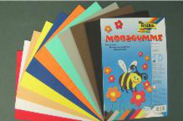 window color bastelbedarf g nstig kaufen moosgummi set 10 platten 10 farben. Black Bedroom Furniture Sets. Home Design Ideas