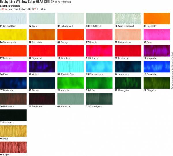 window color bastelbedarf g nstig kaufen hobby line glas design fenstermalfarbe. Black Bedroom Furniture Sets. Home Design Ideas