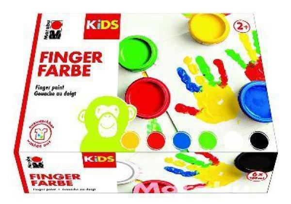 Marabu Kids Fingerfarben 6er Set